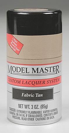 Testors Model Master Spray Fabric Tan 3 oz Hobby and Model Lacquer Paint #28136