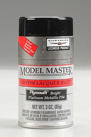 Testors Model Master Spray Bright Platinum 3 oz Hobby and Model Lacquer Paint #28140
