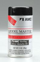 Testors (bulk of 3) Model Master Spray Sterling Silver Metallic 3 oz Hobby and Model Lacquer Paint #28141