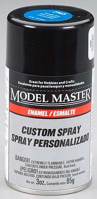 Testors Model Master Spray Metallic Blue Gloss 3 oz Hobby and Model Enamel Paint #2968