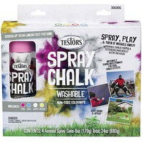 Testors Spray Chalk 4 Color Kit
