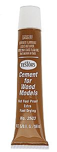 Testors Fast Wood Cement Plastic Model Cement #3503