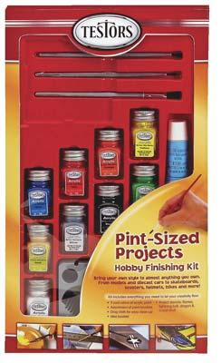 Testors Pint Size Projects Hobby and Model Paint Set #4031