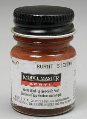Testors Model Master Burnt Sienna FG02007 1/2 oz -- Hobby and Model Acrylic Paint -- #4607