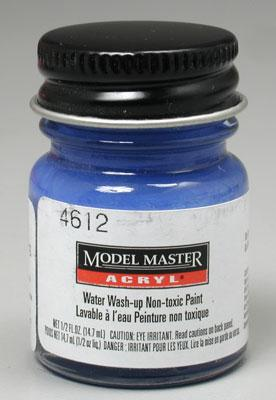 Testors Model Master Flat Cobalt Blue FG02012 1/2 oz Hobby and Model Acrylic Paint #4612