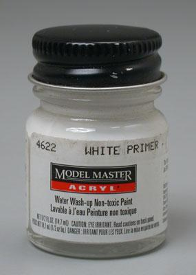 Testors Model Master White Primer GP0001 1/2 oz Hobby and Model Acrylic Paint #4622