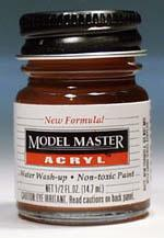 Testors Model Master Clear Orange GP00172 1/2 oz -- Hobby and Model Acrylic Paint -- #4625