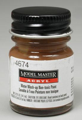 Testors Model Master Leather GP00666 1/2 oz -- Hobby and Model Acrylic Paint -- #4674