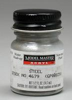 Testors Model Master Steel GP00839 1/2 oz Hobby and Model Acrylic Paint #4679