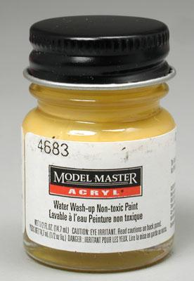 Testors Model Master Chrome Yellow FS13538 1/2 oz Hobby and Model Acrylic Paint #4683