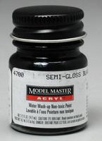 Testors Model Master Semi-Gloss Black FS27038 1/2 oz Hobby and Model Acrylic Paint #4700