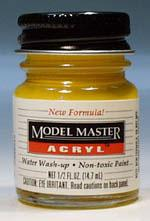 Testors Model Master Insignia Yellow FS33538 1/2 oz -- Hobby and Model Acrylic Paint -- #4721