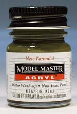 Testors Model Master Green Drab FS34086 1/2 oz Hobby and Model Acrylic Paint #4727