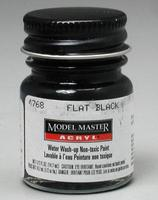 Testors (bulk of 6) Model Master Flat Black GS37038 1/2 oz Hobby and Model Acrylic Paint #4768