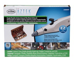 Testors Mtl Airbrush Kit Wood Cs