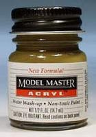 Testors Model Master Dark Earth AN00617 1/2 oz Hobby and Model Acrylic Paint #4846