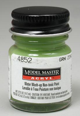 Testors Model Master Green Zinc Chromate AN00628 1/2 oz Hobby and Model Acrylic Paint #4852