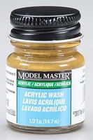 Testors Model Master Brown Oak Detail Wash 1/2 oz Hobby and Model Acrylic Paint #4872