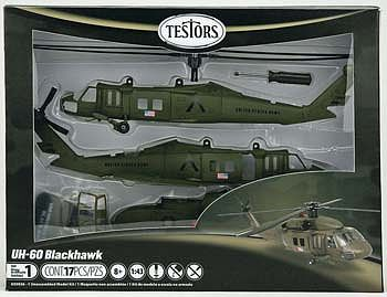 Testors UH-60 Black Hawk -- Plastic Model Helicopter Kit -- 1/60 Scale -- #650026