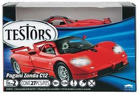 Testors Pagani Zonda C12 Plastic Model Car with Metal Body 1/24 Scale #650035