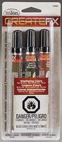 Testors Create FX Enamel Paint Marker Set (Rail Brown, Rail Tie Brown, Rust) Hobby Paint Marker #73801