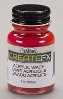 Testors Acrylic Wash Barn Red 1oz