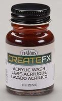 Testors FX Acrylic Wash Redwood 1 oz Hobby and Model Acrylic Paint #79404