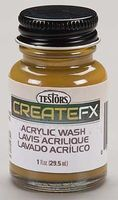 Testors FX Acrylic Wash Oak 1 oz Hobby and Model Acrylic Paint #79409