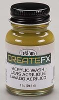 Testors FX Acrylic Wash Pine 1 oz Hobby and Model Acrylic Paint #79410