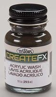 Testors FX Acrylic Wash Black 1 oz Hobby and Model Acrylic Paint #79413