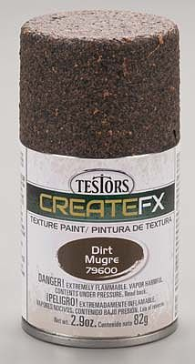 Testors FX Spray Enamel Texture Dirt 2.9 oz -- Hobby and Model Enamel Paint -- #79600