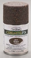 Testors FX Spray Enamel Texture Dirt 2.9 oz Hobby and Model Enamel Paint #79600