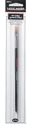 Testors MM Brush,Gold Syn Chisel 1/4