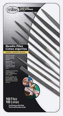 Testors Needle File Set (10) File Rasp #8941
