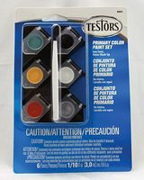 Testors Acrylic Pots 6 Color Primary TRI Hobby and Model Paint Set #9001