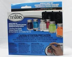 Testors Acrylic Set 6 Color Trend TRI Hobby and Model Paint Set #9012