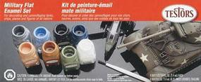 Testors Military Flat Kit Hobby and Model Paint Set #9131