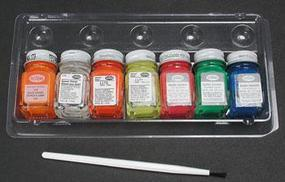 Testors Fluorescent Paint Kit Hobby and Model Paint Set #9132