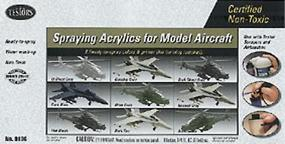 Testors Aircraft Acrylic Paint Set Hobby and Model Paint Set #9136