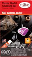 Testors Enamel Finishing Kit Flat Hobby and Model Paint Set #9160