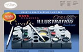 Acrylic Hobby/Craft General Set Hobby and Model Paint Set #9184
