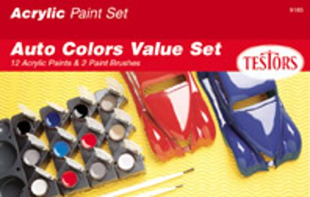 Testors Acrylic Model Car Value Paint Set