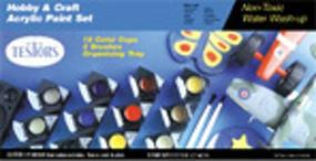 Testors Hobby Craft Paint Set Hobby and Model Paint Set #9186