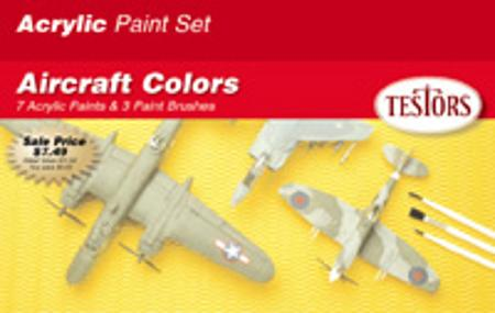 Testors Acrylic Aircraft Finishing Kit Hobby and Model Paint Set #9188