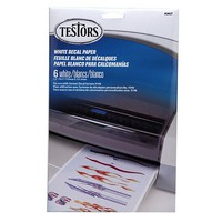 Testors Decal Paper White