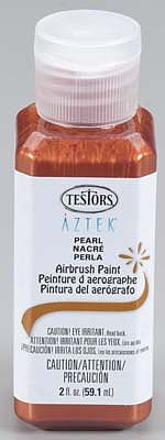 Testors Aztek Airbrushable Pearl Copper Acrylic 2 oz -- Hobby and Model Acrylic Paint -- #9473