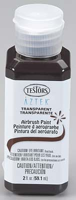 Testors (bulk of 3) Aztek Airbrushable Transparnt Chocolate Acrylic 2oz -- Hobby and Model Acrylic Paint -- #9483