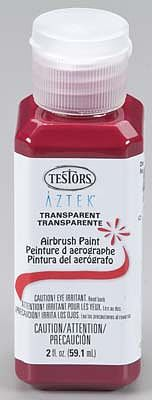Testors Aztek Airbrushable Transparent Cherry Red Acrylic 2oz Hobby and Model Acrylic Paint #9484
