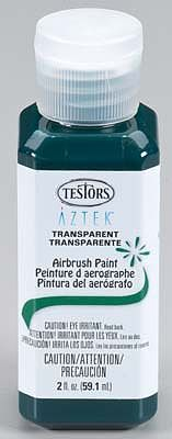Testors (bulk of 3) Aztek Airbrushable Transparent Dark Grn Acrylc 2 oz -- Hobby and Model Acrylic Paint -- #9489