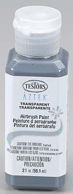 Testors Aztek Airbrushable Transparnt Natural Gray Acrylic 2 oz Hobby and Model Acrylic Paint #9490